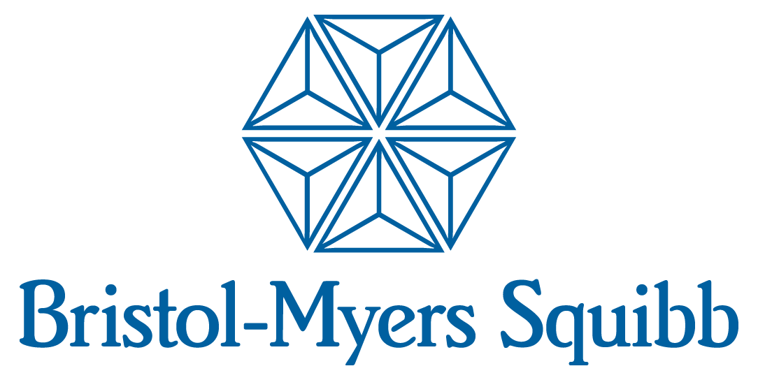 BMS logo, FluoroFinder Partnerships