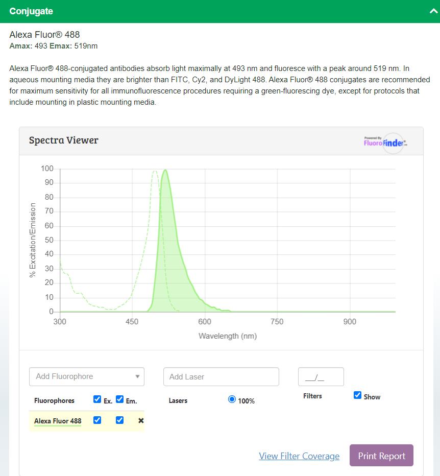 spectra viewer, FluoroFinder partnerships