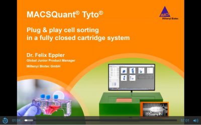MACSQuant® Tyto®: Plug & play cell sorting in a fully closed cartridge system