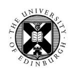 University of Edinburgh logo, flow panel design